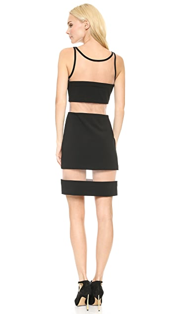 Moschino Mesh Stripe Dress
