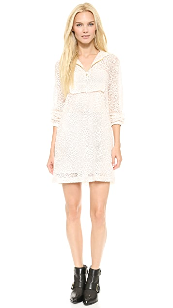 Moschino Hooded Lace Dress