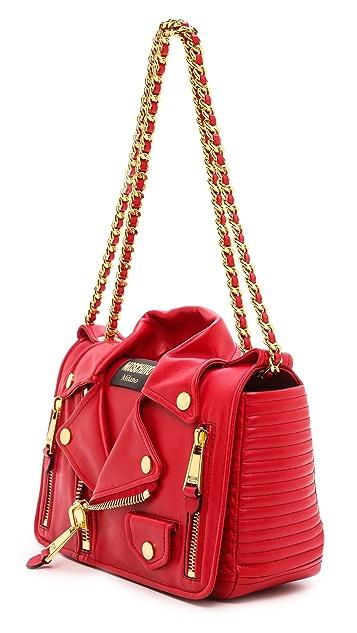 Moschino Moto Jacket Shoulder Bag
