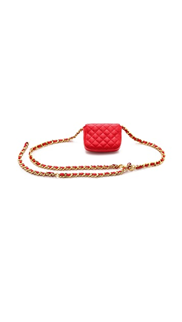 Moschino Tiny Quilted Chain Bag