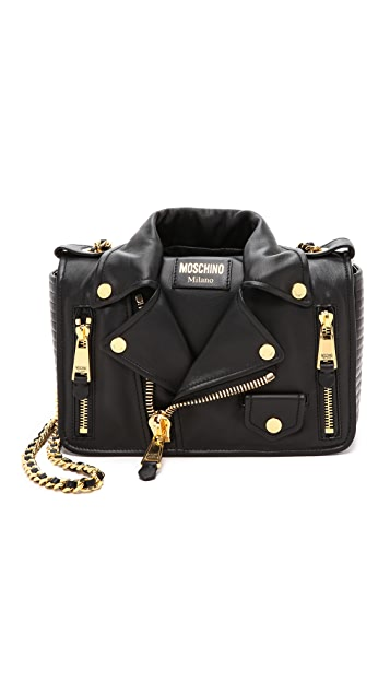 Moschino moto biker shoulder bag - Grey LUx6OzuF5