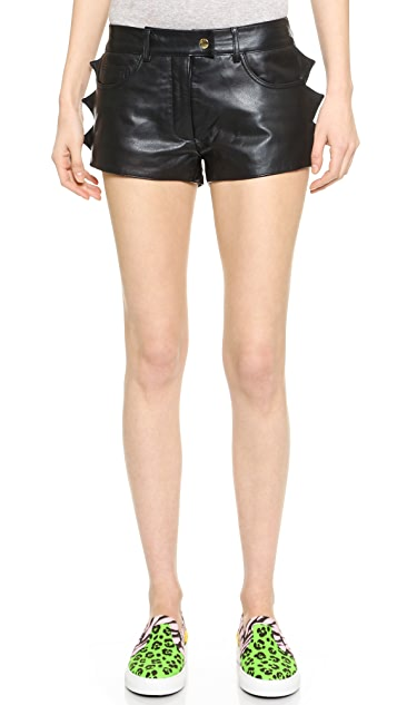 Moschino Cheap and Chic Leather Shorts