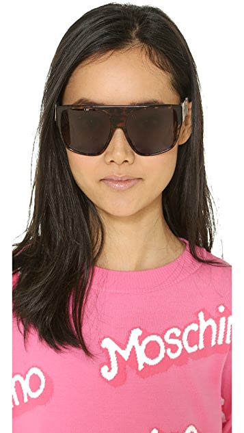 Moschino Flat Top Sunglasses