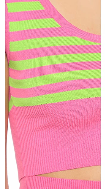 Moschino Stripe Crop Top