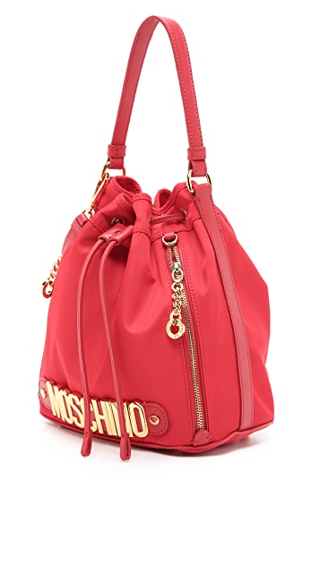 Moschino Nylon Bucket Bag