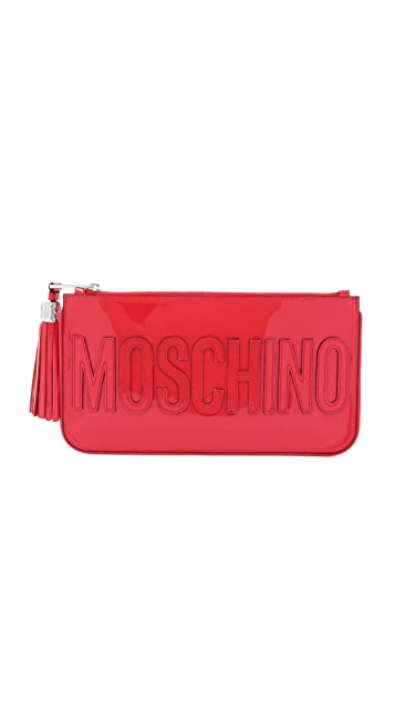 Moschino Клатч Moschino из лакированной кожи