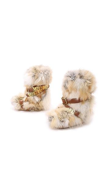 Moschino Fur Boots