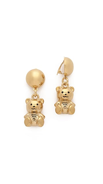 Moschino Bear Earrings