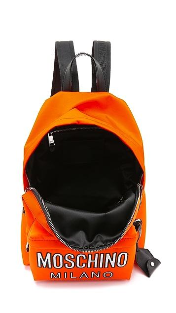 Moschino Printed Nylon Backpack