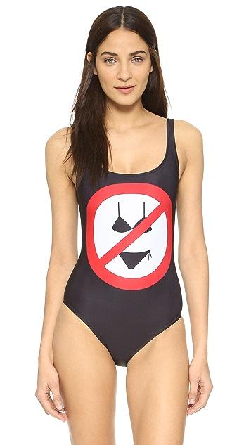 Moschino No Bikinis Maillot
