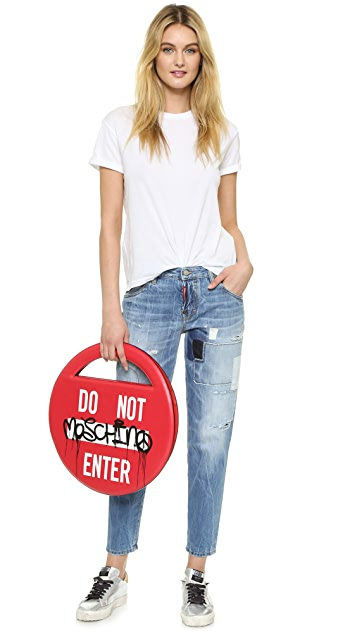 Moschino Do Not Enter Shoulder Bag
