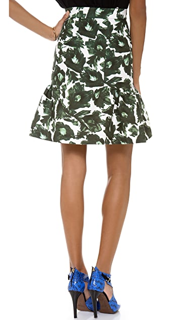 Mother of Pearl Floral Frill Skirt