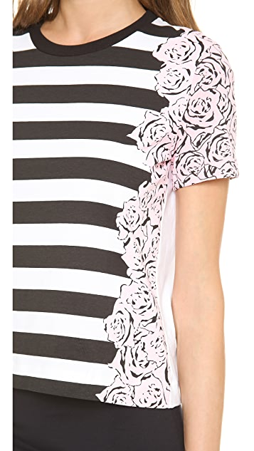 Mother of Pearl Boxy Stripe Tee