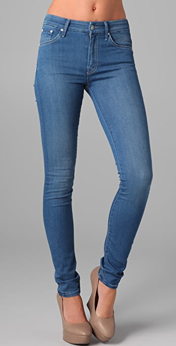 2d05c027fbc74 MOTHER High Waisted Looker Skinny Jeans
