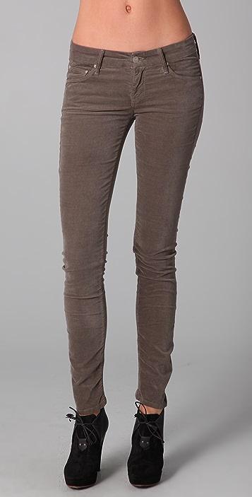 MOTHER The Looker Skinny Velvet Pants