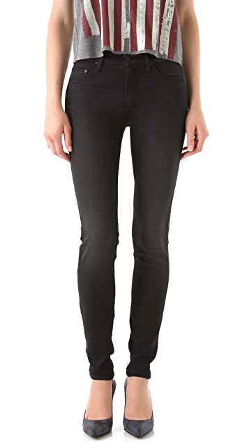 MOTHER High Waisted Looker Skinny Jeans