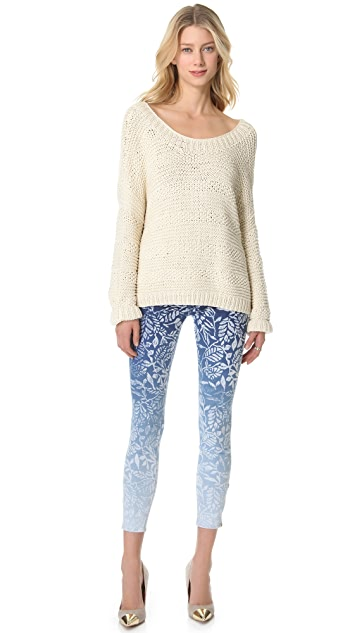 MOTHER The Looker Print Ankle Zip Jeans