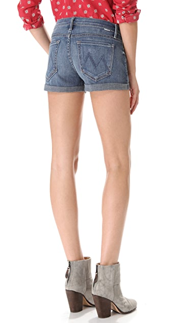 MOTHER Cuffed Short Shorts