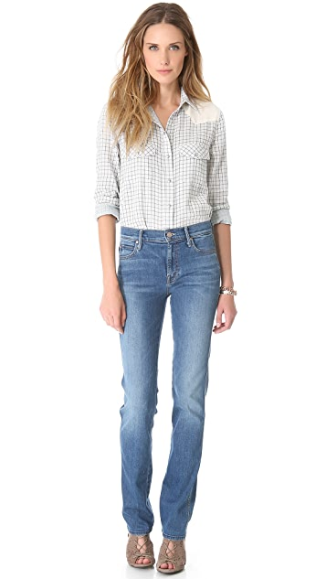 MOTHER High Rise Rascal Jeans