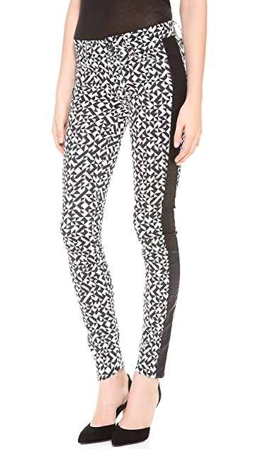 MOTHER The Colorblock Looker Skinny Pants