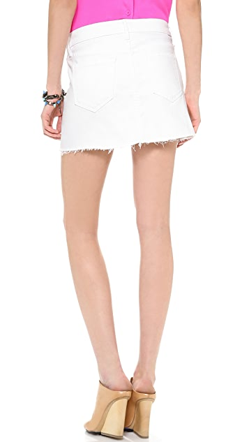 MOTHER A-Line Mini Fray Skirt