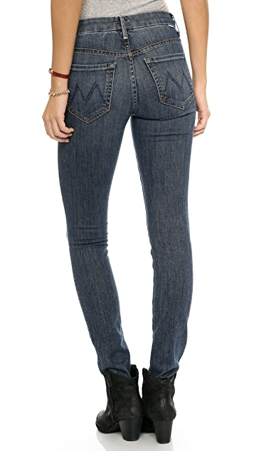 MOTHER The High Waisted Looker Skinny Jeans