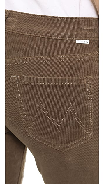 MOTHER The Dropout Slouchy Skinny Corduroy Pants
