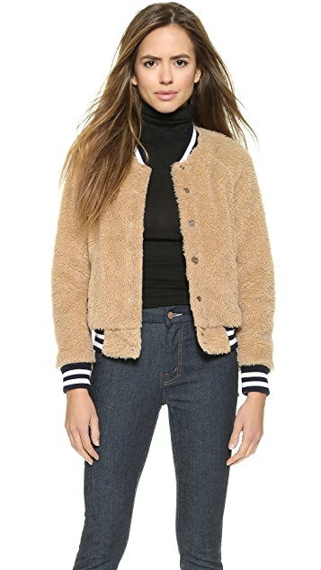 MOTHER Letterman Snap Jacket