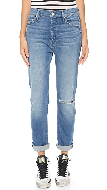 MOTHER The Vagabond Rolled Jeans
