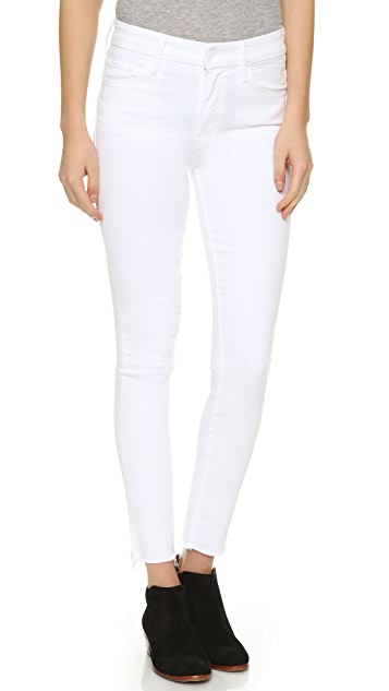 e5739b9953403 MOTHER High Waisted Looker Ankle Fray Jeans