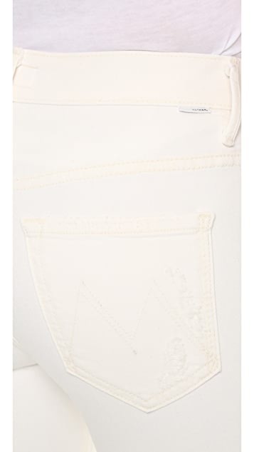 MOTHER Tootsie High Waist Fray Jeans