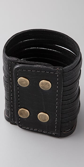 Motif 56 Misty Leather Cuff Bracelet