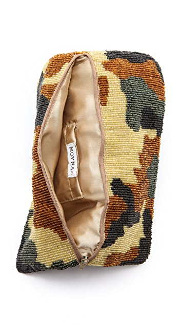 MOYNA Camouflage Fold Over Clutch
