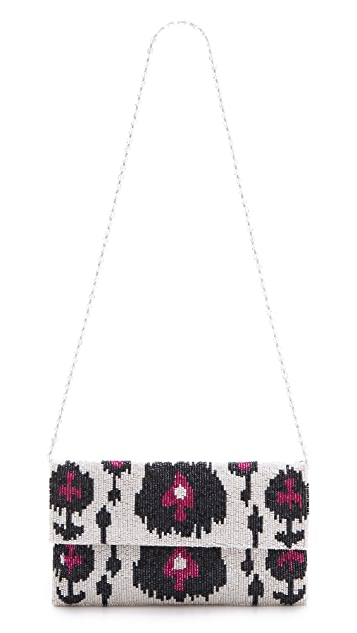 MOYNA Ikat Fold Over Clutch