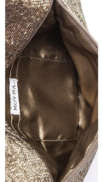 MOYNA Beaded Fold Over Clutch