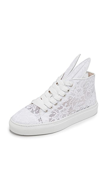 Minna Parikka Sheer Lace Bunny Sneakers