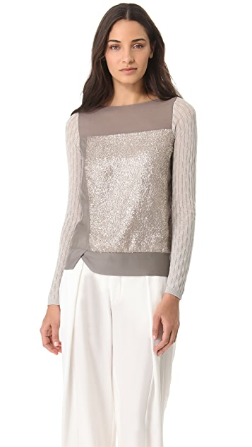 M.PATMOS Textured Silk Top