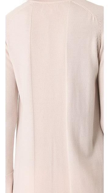 M.PATMOS Long Leather Knit Jacket