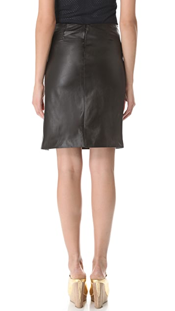 M.PATMOS Ernst Leather Skirt