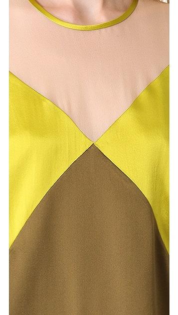 M.PATMOS Seamed Silk Top
