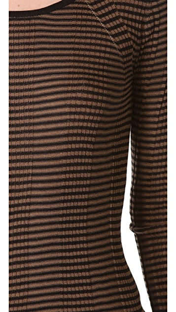 M.PATMOS Rib Striped Sweater