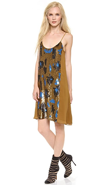 M.PATMOS Camo Sequin Slip Dress