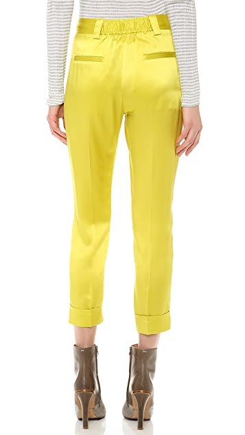 M.PATMOS Silk Boyfriend Trousers