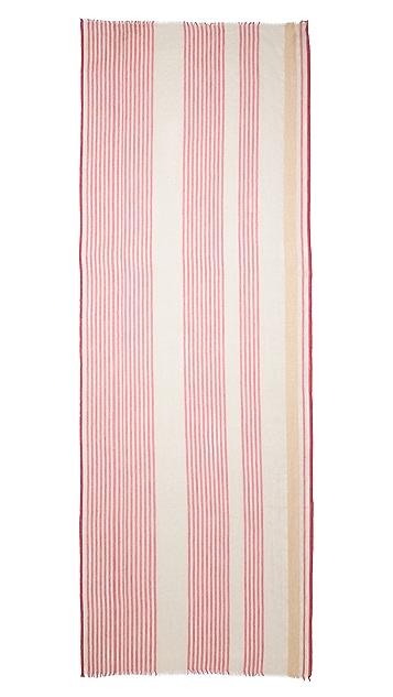 M.PATMOS Woven Vertical Stripe Pashmina