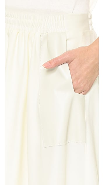 M.PATMOS Leather Trim Editor Skirt