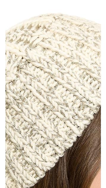 M.PATMOS Hand Knit Metallic Reversible Hat
