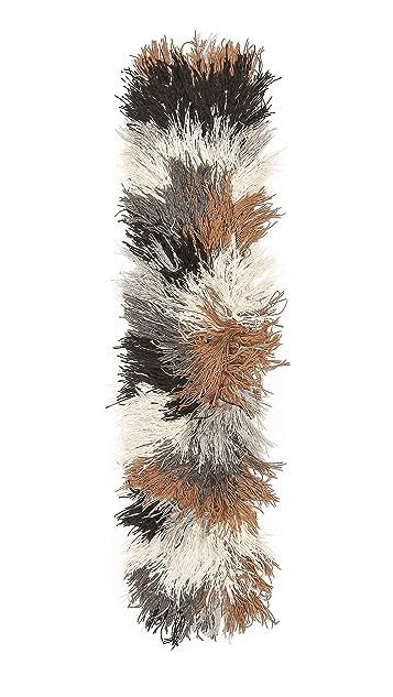 M.PATMOS Hand Knit Mixed Yarn Stole