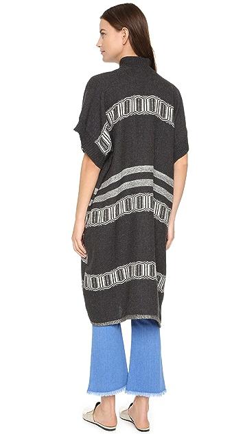M.PATMOS Handwoven Cocoon Coat