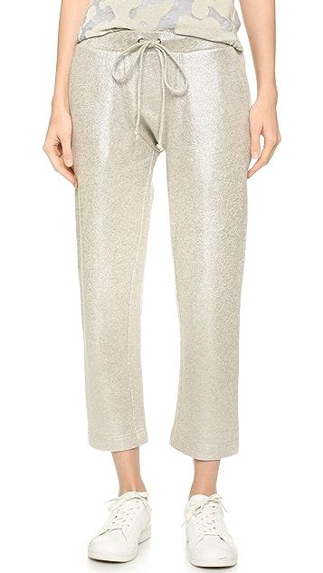 M.PATMOS Metallic Drawstring Trousers