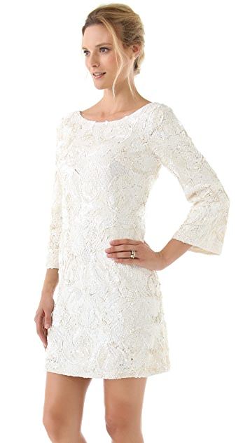 Marchesa Sequined Tunic Dress
